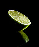 Bright green natural lime Royalty Free Stock Images