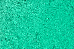 Bright Green Painted Stucco Wall Stock Photo
