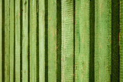 Bright green painted wooden fence background Royalty Free Stock Image