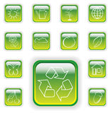 Bright green plant buttons Royalty Free Stock Photography