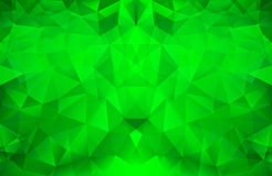 Bright Green Polygonal Pattern Stock Photos