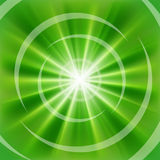 Bright Green rays Stock Photography