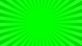 Bright green rays background. With 16 9 aspect ratio. Comics, pop art style. Vector, eps 10 Stock Images
