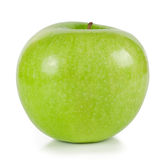The bright green ripe apple Stock Photo
