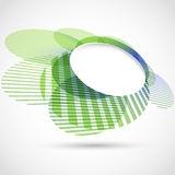 Bright green round advertisement template Stock Image