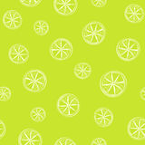 Bright green seamless background with lime citrus Stock Photos