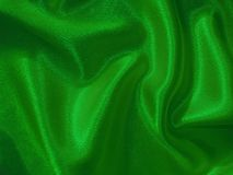 Bright green silk background Royalty Free Stock Photography