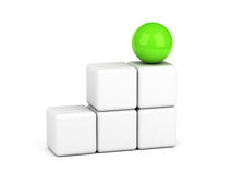 Bright green sphere leadership concept Royalty Free Stock Image