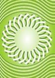 Bright green spring background with waves and abstract geomatric star shape in middle Stock Photo