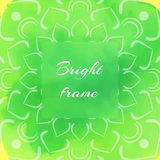 Bright Green Square Frame Stock Photos