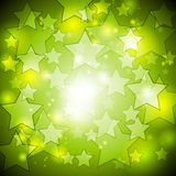 Bright green stars vector design Stock Photography