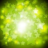 Bright green stars vector design Stock Photography