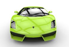 Bright Green Supercar Stock Image