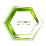 Bright green tech logo Royalty Free Stock Photo