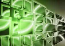 Bright green technology design. Vector Stock Image