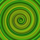 Bright green twisted spiral shape abstract 3D rendering Royalty Free Stock Photos