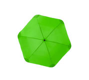 Bright green umbrella Stock Photography