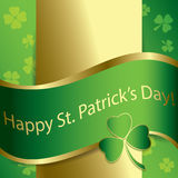 Bright green vector background - happy st patrick day. Bright green vector background -  happy st patrick day Royalty Free Stock Photos