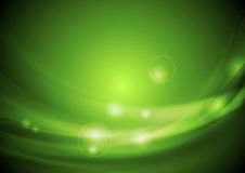 Bright green vector waves design Stock Photography