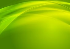 Bright green vector waves design Stock Images