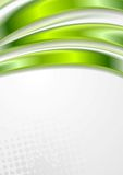 Bright green vector waves grunge design Royalty Free Stock Photography