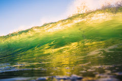 Bright green wave in Bali Royalty Free Stock Photos