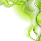 Bright green waves vector background Stock Photography