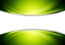 Bright green wavy abstract vector design Royalty Free Stock Photo