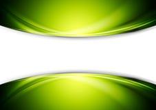 Bright green wavy abstract vector design Royalty Free Stock Photo