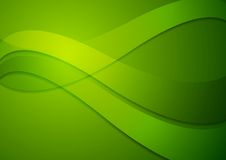 Bright green wavy background Stock Photos