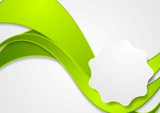 Bright green wavy corporate background Stock Photo