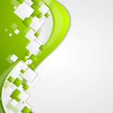 Bright green wavy tech abstract background Royalty Free Stock Image