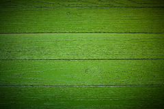 Bright green wood structure macro as a background texture vignet Royalty Free Stock Photo