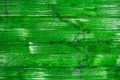 Bright green wooden boards with a texture for the background. Horizontal frame Stock Image