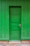 Bright Green Wooden Door Abstract Lime Farm Shed Entrance Closed Stock Photo
