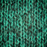 Bright green wool knitted background Royalty Free Stock Photography