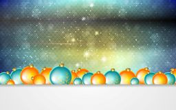 Bright greeting background with Christmas balls Stock Photo