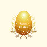 Bright greeting card for Easter with eggs. Color composition with simple geometric figures Royalty Free Stock Image