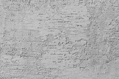 Bright Grey Grunge Plastered Wall Stucco Texture, Horizontal Detailed Natural Scratch Grungy Gray Coarse Rustic Textured royalty free stock photo