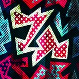 Bright grunge geometric seamless pattern Stock Images