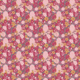 Bright Grungy Antique Vintage Floral painted Background Stock Image
