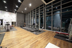 Bright gym with a lot of windows Stock Photos