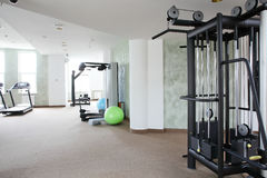 Bright gym with a lot of windows Royalty Free Stock Images