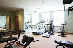 Bright gym with a lot of windows Stock Images