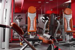 Bright gym with a lot of windows Royalty Free Stock Photo