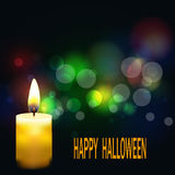 Bright Halloween background.Beavertail background and the candle EPS10 royalty free illustration