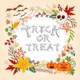 Bright Halloween card Stock Photography