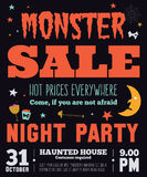 Bright Halloween hot sale card Royalty Free Stock Images