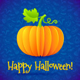 Bright Halloween orange paper vector pumpkin Royalty Free Stock Photography