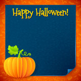 Bright Halloween orange paper vector pumpkin Royalty Free Stock Photo